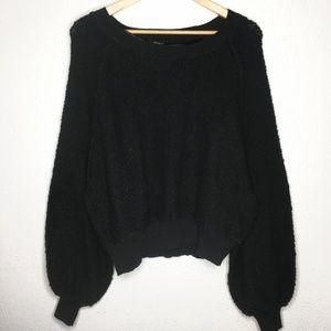 RUE21 Bishop Sleeve Dolman Sleeve Crop Sweater NWT